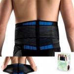 "Brand New Deluxe Neoprene Double Pull Lumbar Lower Back Support Brace Exercise Belt (L (33-40""/86-102cm))"