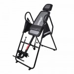 Emer Deluxe Padded Foldable Gravity Inversion Table for Back Therapy Exercise Fitness INVR-08B-BLK