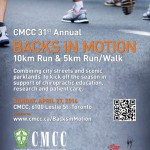 CMCC Event: Backs in Motion 10 km and 5 km Run/Walk